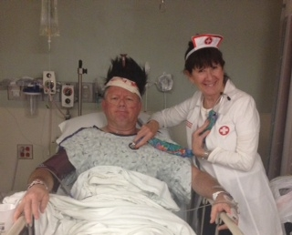Chuck and Gail at Hospital