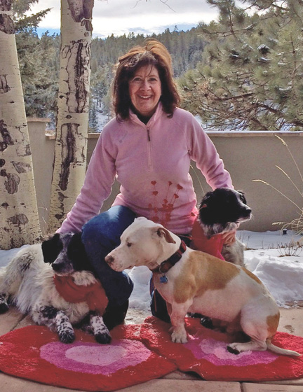 Gail and Dogs at Val Day