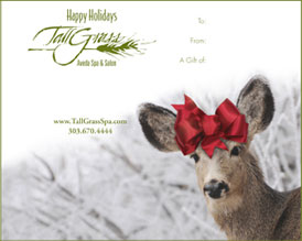 No need to check your Christmas gift list twice when you send TallGrass spa gift certificates.