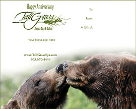 Celebrate your anniversary with a couples massage at TallGrass Spa.