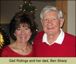 Gail Ridings and her dad, Ben Sharp
